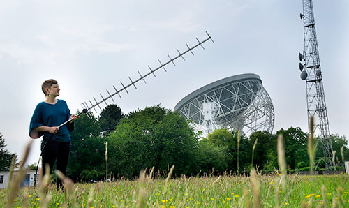 Postgraduate student undertaking research at Jodrell Bank