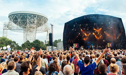 Bluedot festival at Jodrell Bank