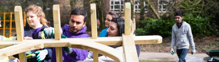 University of Manchester student volunteers