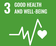 SDG poster for good health and wellbeing