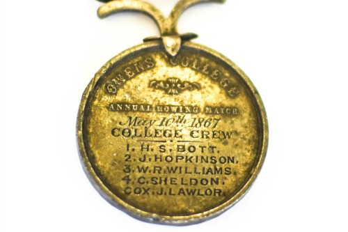 Rowing Race medallion