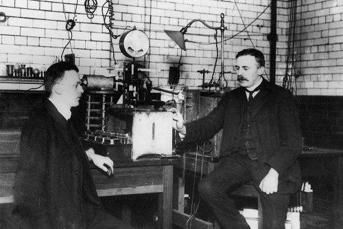 Hans Geiger and Ernest Rutherford
