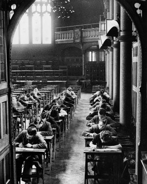 Examinations in the Hall, 1939