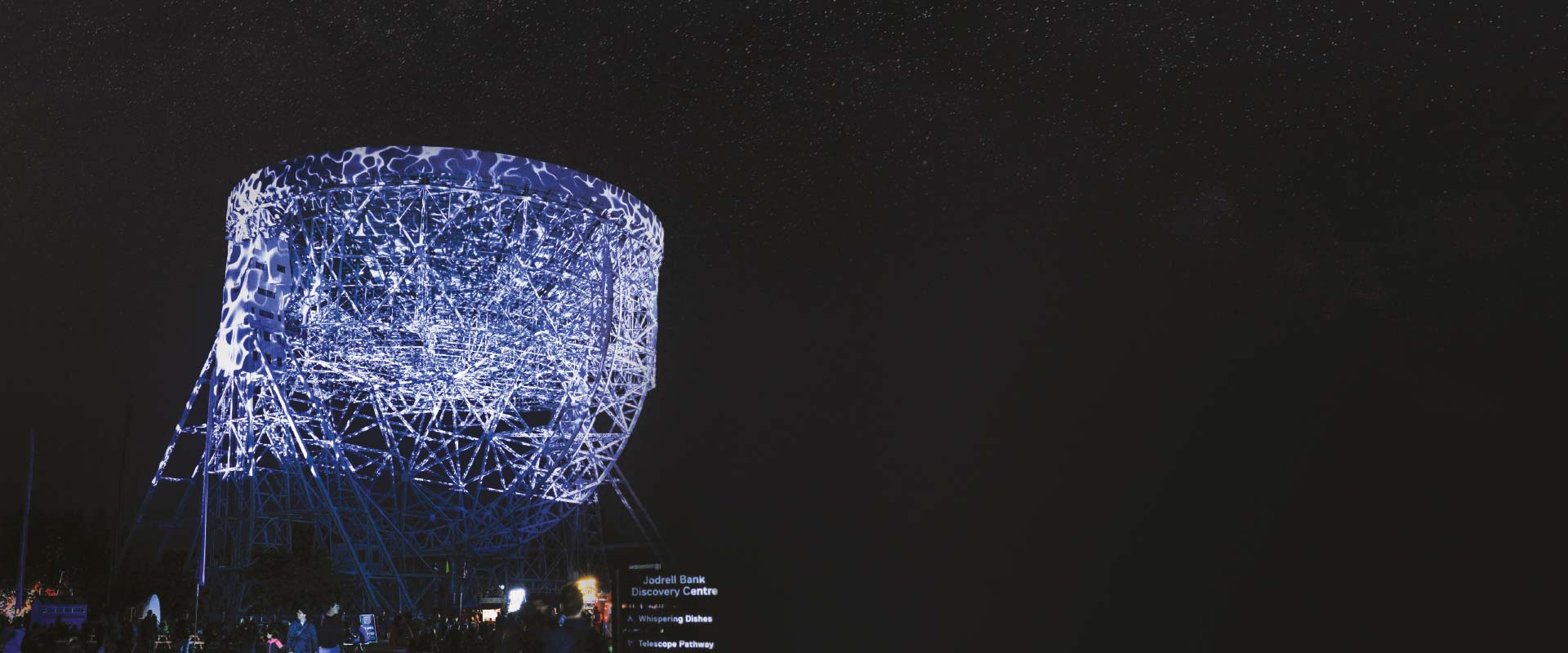 Jodrell Bank at night