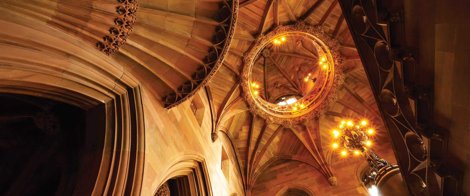 Vaulted ceiling of The John Rylands Library