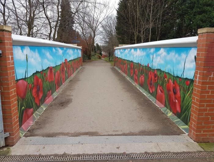 Poppy Bridge in Didsbury Park by Qubek.