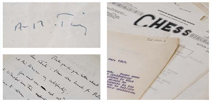 An arrangement of Alan Turing's letters