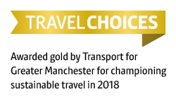 TfGM gold accreditation sustainable travel