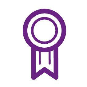 Icon of a ribbon award