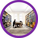 Instagram profile image: photo of library