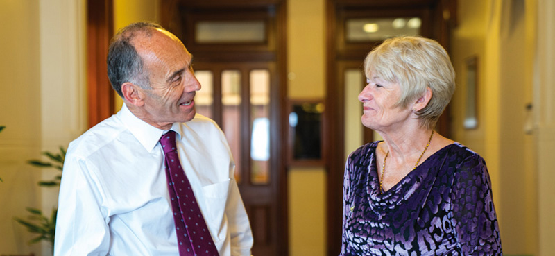 Edward Astle and Professor Dame Nancy Rothwell