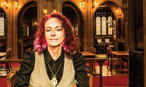Rosie Garland in John Rylands Library