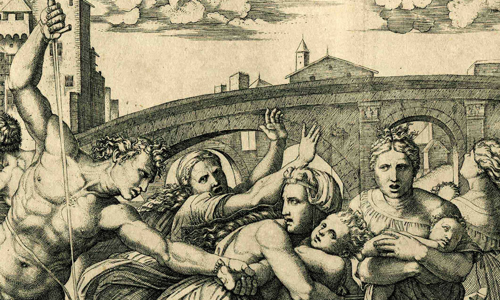 Massacre of the Innocents. Marcantonio Raimondi. ca. 1512–13