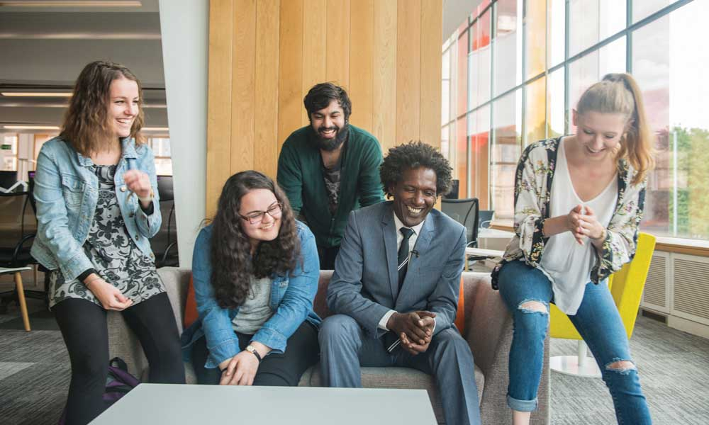 Lemn Sissay meeting University of Manchester students