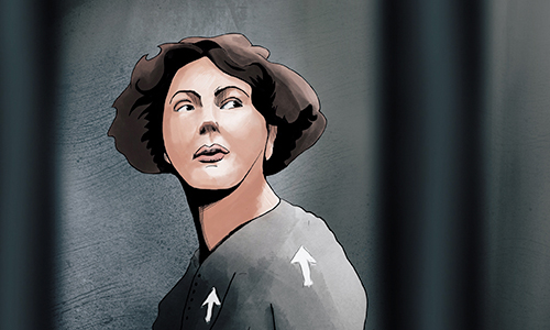 Illustration of Christabel Pankhurst