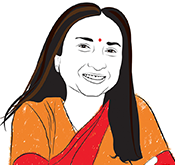Illustration of Bina Agarwal