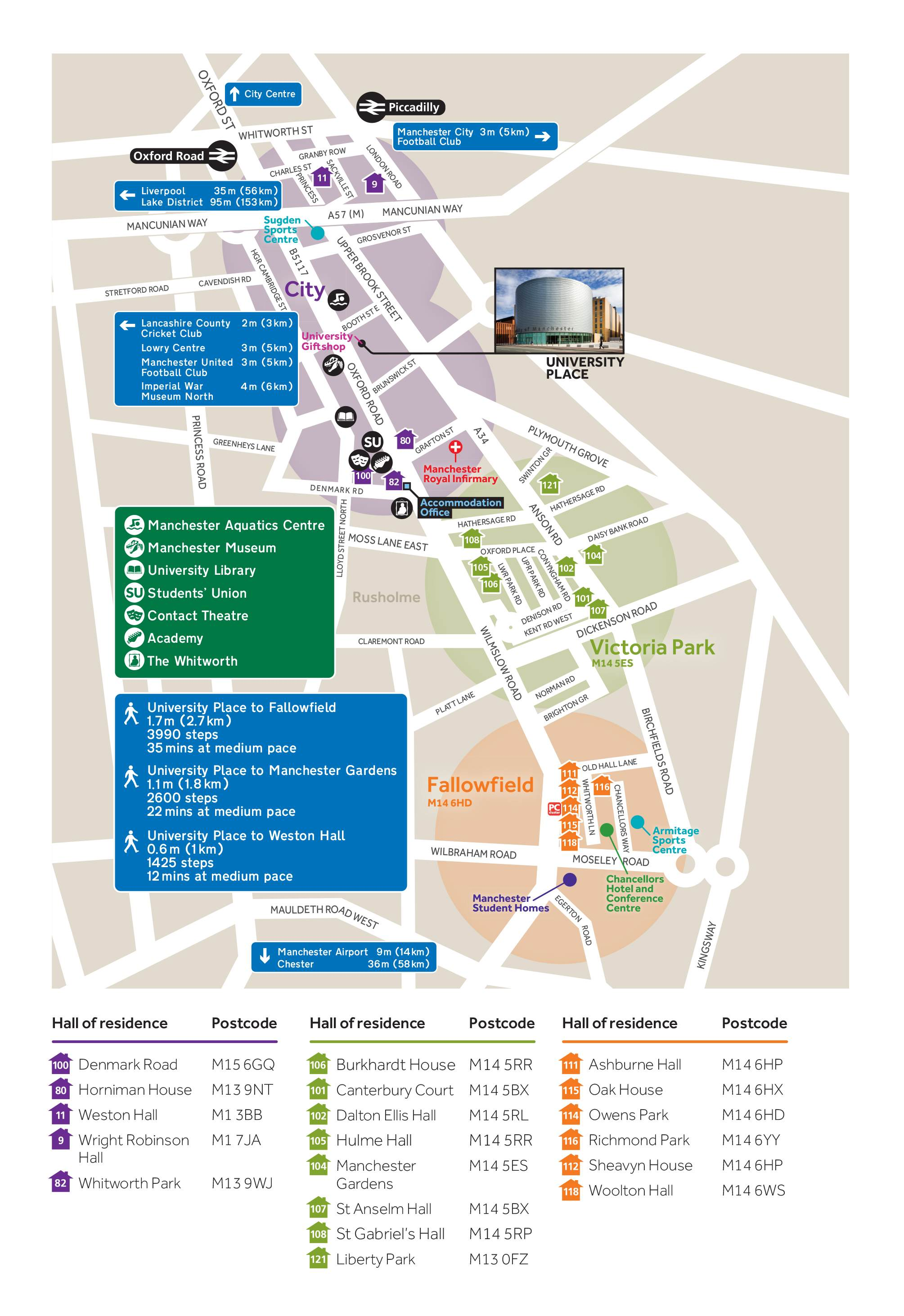 University Accommodation Area Guide The University Of Manchester