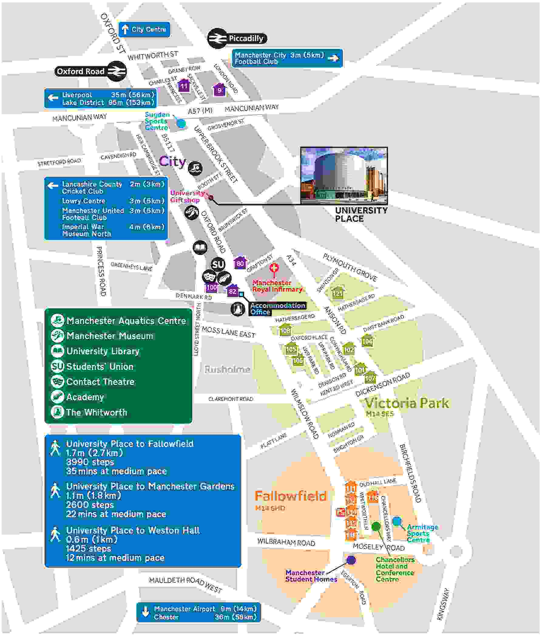 Manchester University Map University accommodation area guide | The University of Manchester