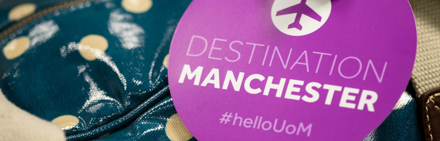 image of welcome to Manchester badge