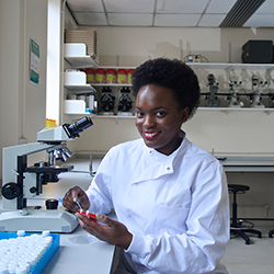 University of Manchester master's student Faith Nanyonga