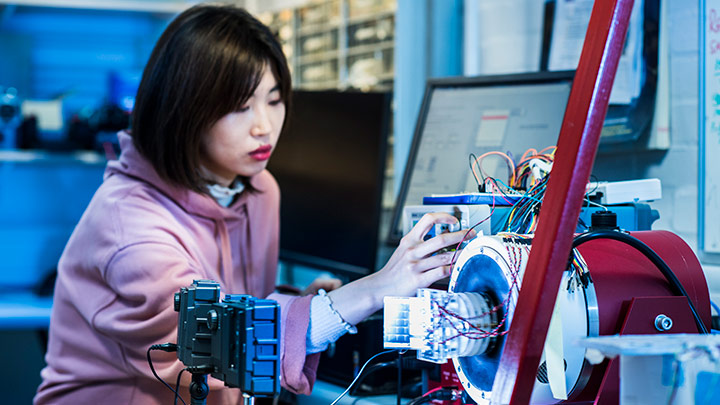 student working in MACE Lab
