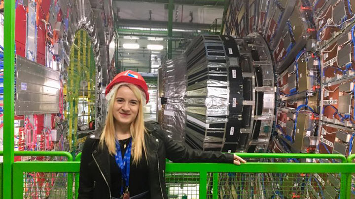 Raluca Cruceru at CERN in Switzerland.