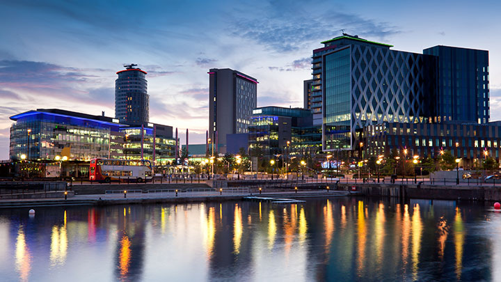 Media City, Salford Quays.