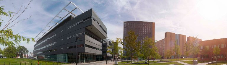 Panoramic shot of the Alan Turing Building